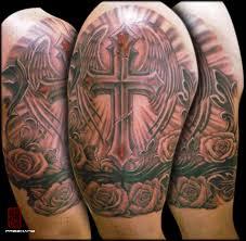 best armband tattoo designs cross armband eddie loven cover up tattoo tattoomagz