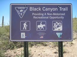 Interior Signs Trail Bct Black Canyon Trail Hiken Girls