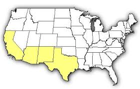 map of the united states with arizona highlighted venombyte venomous spiders arizona recluse