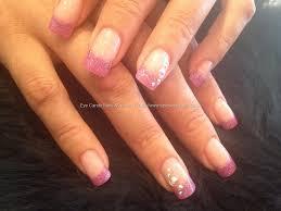 eye candy nails u0026 training purple pink glitter fade with