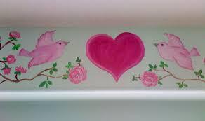 roses archives hand painted murals for children mural for girls