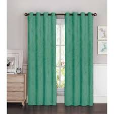 Teal Drapes Curtains Teal Window Treatments The Home Depot