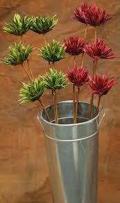 dried mum flowers 6 mum flower stems