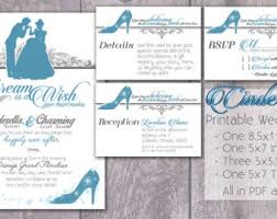 cinderella wedding invitations cinderella wedding invitation kit cinderella wedding