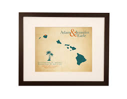 2nd anniversary gift ideas for cotton anniversary keepsake map 2 year anniversary gift idea