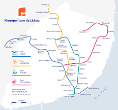 Metro Redline Map Public Transport Between Lisbon Airport And City Center Travel