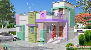 North Indian Single Floor Homes Perky House Plan Front Elevation