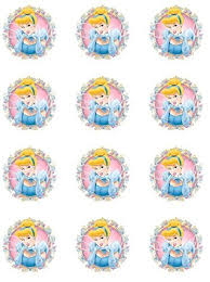 cinderella cupcake toppers cinderella 1 edible cupcake toppers set of 12