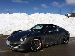 porsche 911 winter low slung porsche 911 targa in the wheels ca