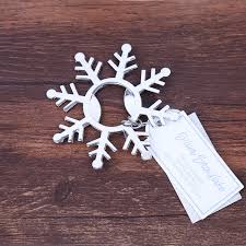 winter wedding favors 18pcs lot free shipping silver snowflake bottle opener winter