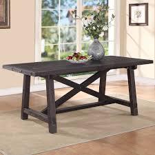modus portland solid wood round dining table medium walnut