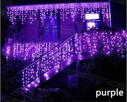 purple christmas lights new style 12m x 0 75m 432 led curtain icicle string lights