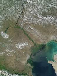 Volga River Map Nasa Visible Earth Volga Delta And Caspian Sea Russia Kazakhstan