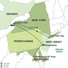 New England Area Map by Cosmos Tours New York Niagara Falls U0026 Washington Dc 2016