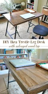 How To Lay Ikea Laminate Flooring How To Make A Desk With Ikea Trestle Legs And Old Wood Flooring