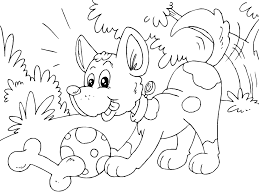 coloring page puppy img 22684