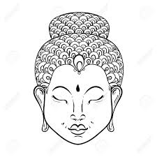 Vector Artistically Portrait Of Buddha For Ornamental Adult Buddhist Coloring Pages