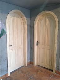 Arch Doors Interior Gm017 Wood Plate Wood Doors Interior Door Set Arched Door Rustic