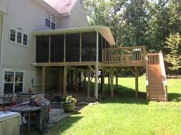 screened decks and porches by clinton fence