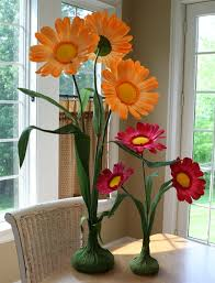 paper flower centerpieces oversized daisy party decorations