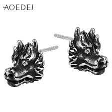 s mens earrings aoedej mens earrings studs black stainless steel men s