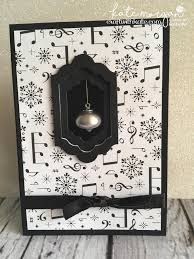 handmade christmas card using stampin ups merry music dsp musical