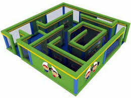 small maze with printing for