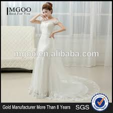 2017 alibaba fashion wedding dress new bride korean boat neck