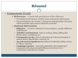 Should References Be Listed On A Resume Resume Business Letter U0026 Memo Ppt Download
