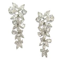statement earrings adelise floral cubic zirconia statement earrings bellagio