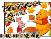 winnie the pooh thanksgiving greetings festival collections