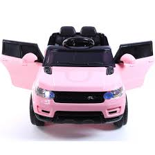 land rover pink mini hse range rover style 12v child u0027s ride on jeep pink