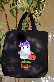 trick or treat bag canvas bag personalized halloween tote cute
