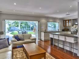 Open Floor Plan Kitchen Designs Queenslander Open Plan Kitchen On Ground Floor With Garden Pool