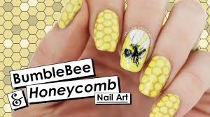 bumblebee u0026 honeycomb nail art nail crush u003d piggieluv nailed