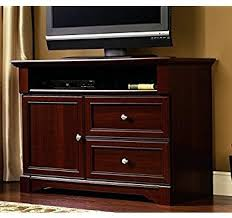 cherry wood tv stands cabinets amazon com sauder palladia high boy tv stand select cherry awesome