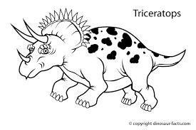 Dinosaur Facts Triceratops Dinosaur Coloring Page Dinosaur Coloring Page