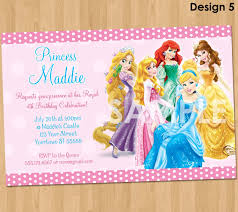 Example Of Invitation Card For Birthday Disney Princess Birthday Invitations Kawaiitheo Com