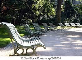 Benches In Park - paris park benches park benches in the park monceau paris stock