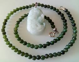 natural jade necklace images Beautiful natural imperial jade unisex necklace with jadeite jpg