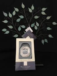 hallmark the family tree photo ornament display stand 2003 metal