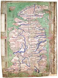Map Of Britian A Clerk Of Oxford A Description Of England C 1270