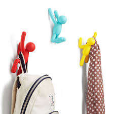 modern funky coat hooks red candy umbra buddy hooks in assorted colours colourful quirky hooks