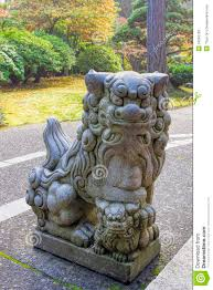 japanese guard dog statues japanese komainu foo dog sculpture stock photo image of