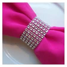 rond de serviette mariage rond de serviette strass argent
