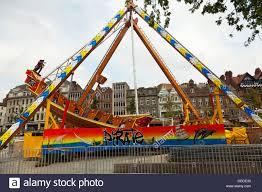 kids on pirate ship fairground ride in nottingham city centre
