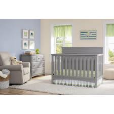 delta children delta children fancy 4 in 1 crib grey baby