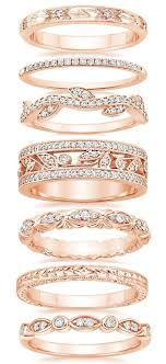 jewelry rings bands images Best 25 rose gold bands ideas blush diamond rings jpg