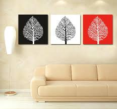 3 piece panel wall art black white red tree canvas painting 3 piece modern abstract canvas wall art custom canvas prints photo to art customization in