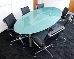 Grey Meeting Table Wonderful White Oval Meeting Table With Chicago 8 Steelcase Grey